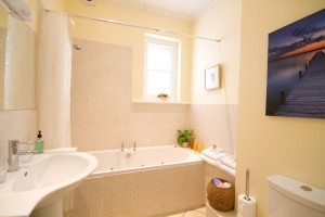Bathroom in furnished apartment for rent