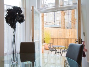 Furnished apartments - dining leading to patio