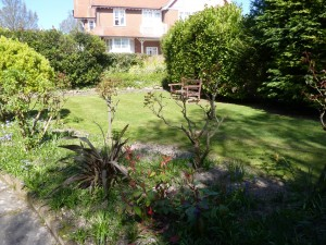 Communal garden in short term accommodation