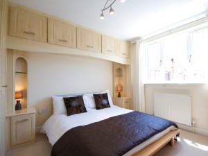 Master bedroom in short stay flat