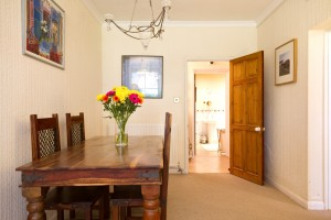 Dining area of furnished accommodation