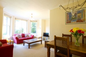 Dining lounge in furnished accommodation