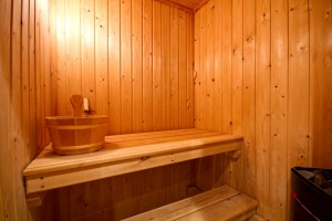 Sauna in furnished accommodation