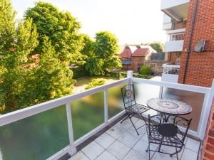 Balcony of temporary housing