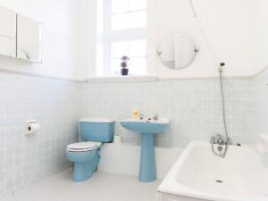 Bathroom of temporary housing