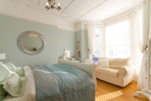Master bedroom in this short stay apartment