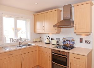 Kitchen in serviced apartment in Sovereign Harbour