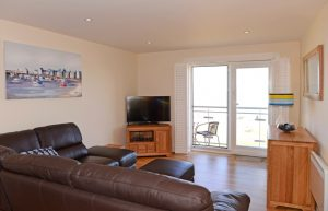 Lounge in this serviced apartment in Sovereign Harbour