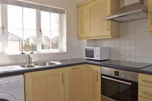 Kitchen of this serviced flat
