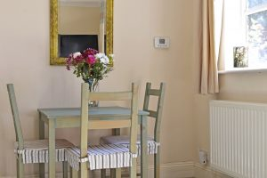 Dining area in this short stay cottage